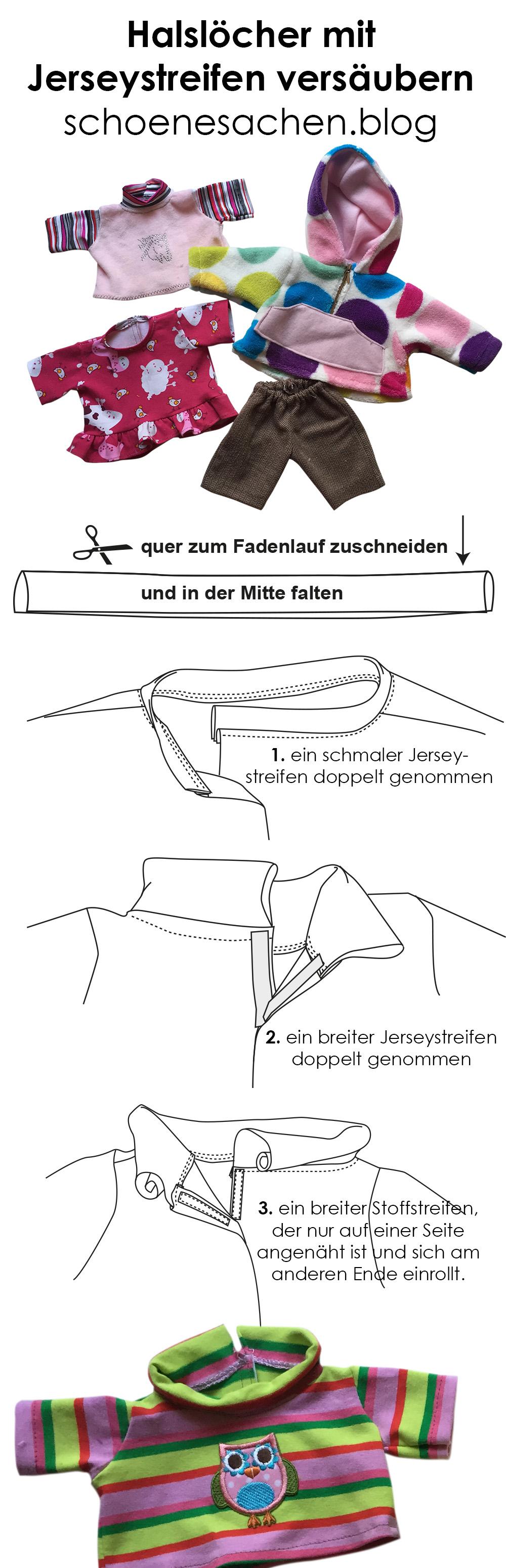 Shirt Kleid einfacher Ausschnitt nähen, Halsausschnitt mit Stoffstreifen versäubern, ärmelloses Kleid mit Jerseystreifen nähen,
