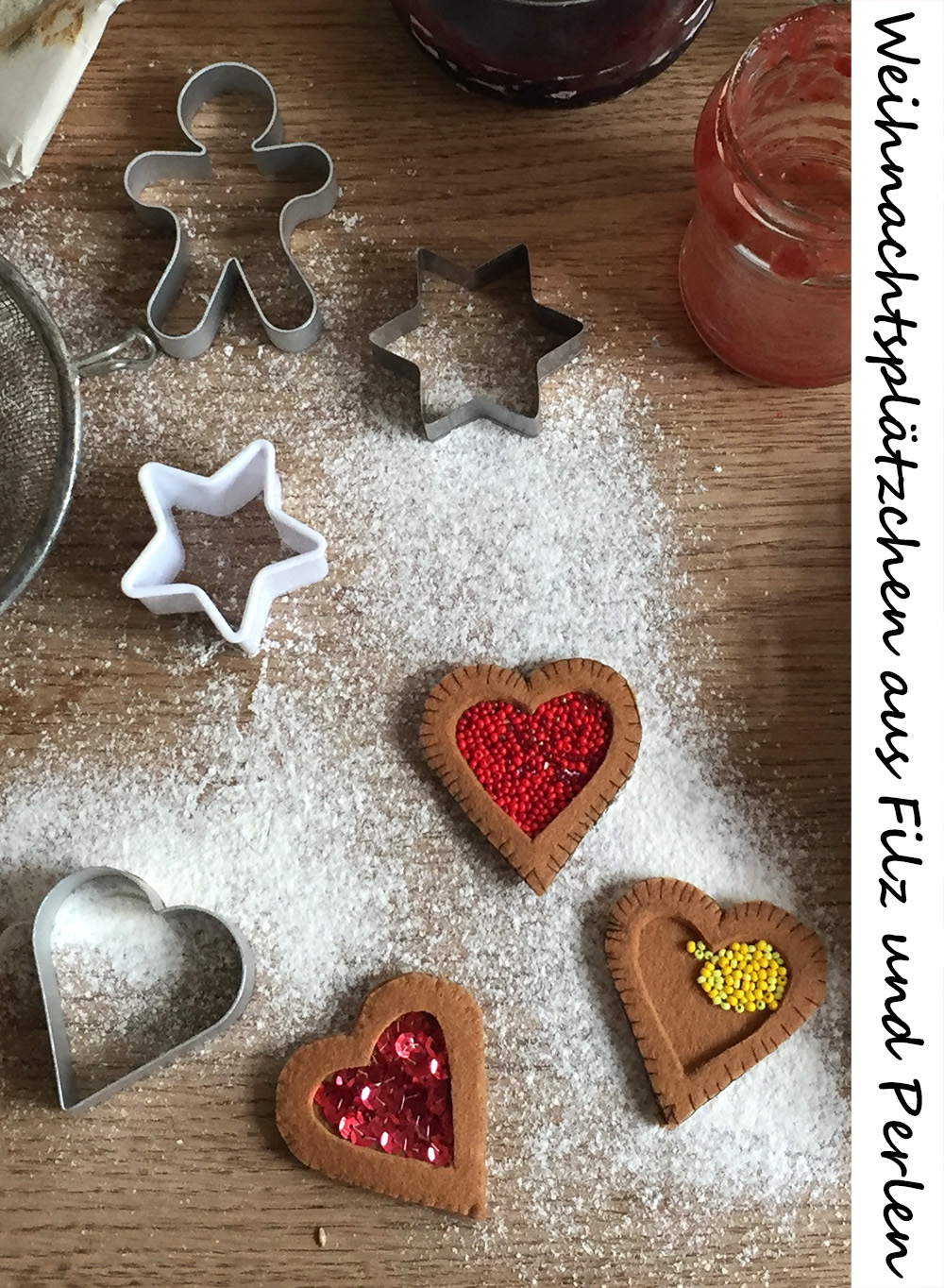 Kuchen für die Kinderküche aus Filz nähen, Kekse für die Kinderküche selber machen, einfache Weihnachtsplätzchen Filz Ornament Vorlage, Weihnachtsplätzchen nähen,
