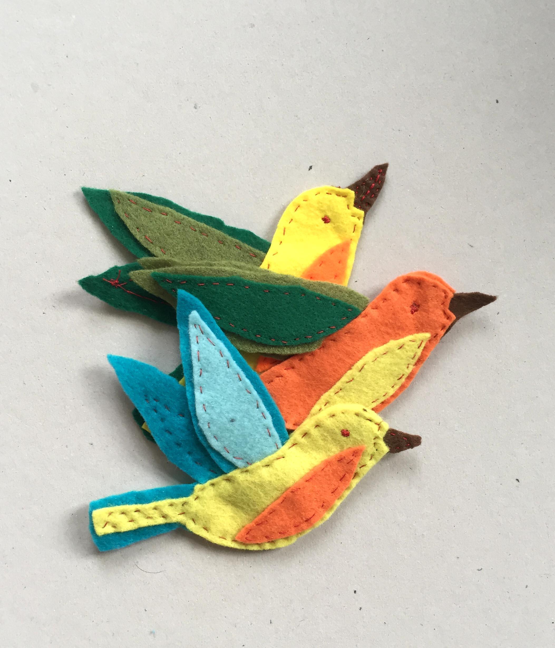 Filz Ornament Vogel nähen, Vorlage Vogel aus Filz nähen, Schnittmuster für Vogel aus Filz, Vogel nähen für Anfänger,