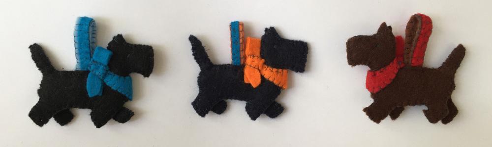 Filz Ornament Hund nähen, Schlüsselanhänger als Geschenk aus Filz nähen,