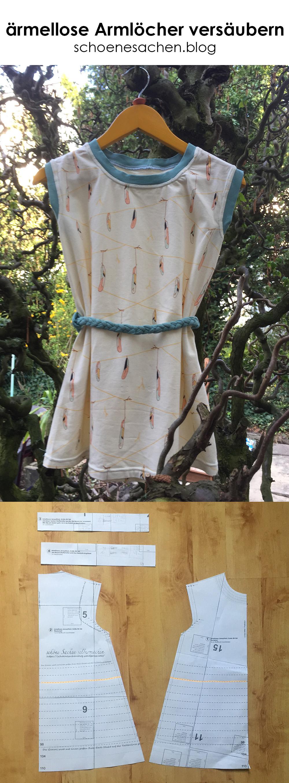 ärmelloses Kinderkleid nähen, ein schlichtes Kleid für Kinder ohne Ärmel nähen, einfache Anleitung für ein Kinderkleid, Kleidung für Kinder nähen für Anfänger, Jerseystoffe sauber verarbeiten, ärmellose Armlöcher sauber verarbeiten,