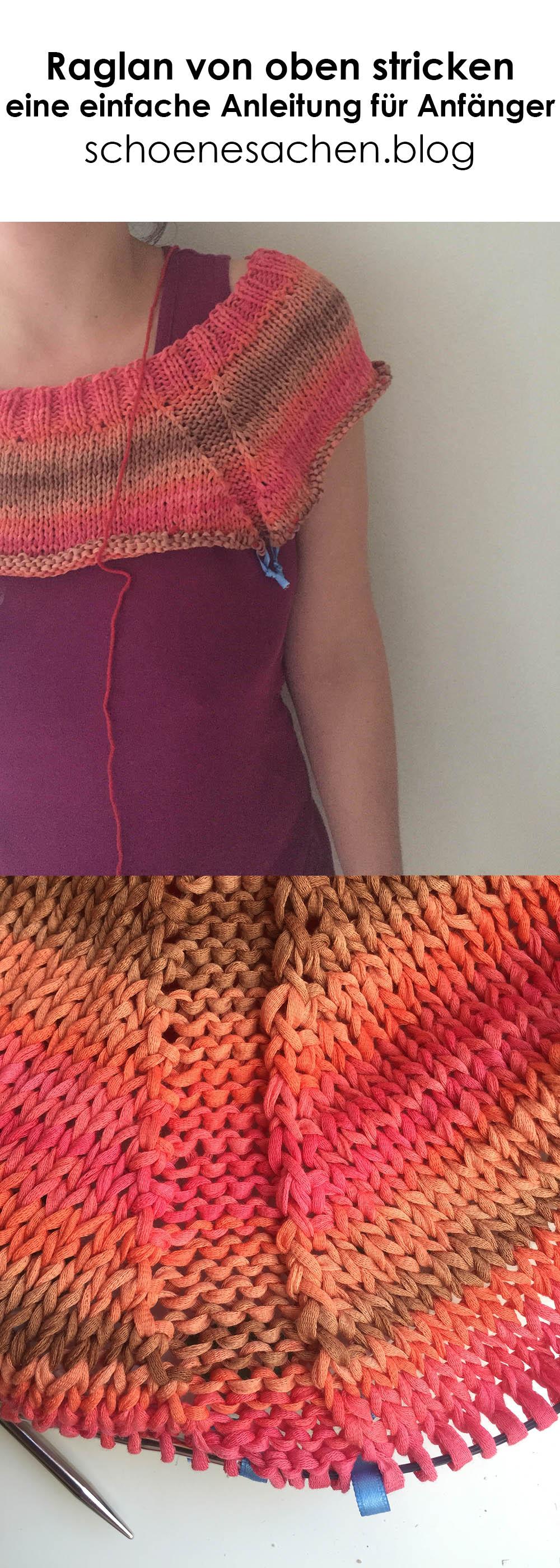 Pullover mit Raglannaht stricken, Anleitung für Anfänger, Raglan von oben stricken,